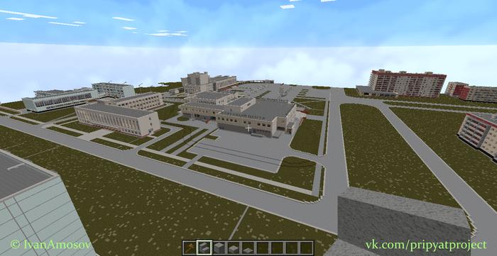 Припять в Minecraft Сталкер, Припять, ЧЗО, Minecraft, Чернобыль, Длиннопост