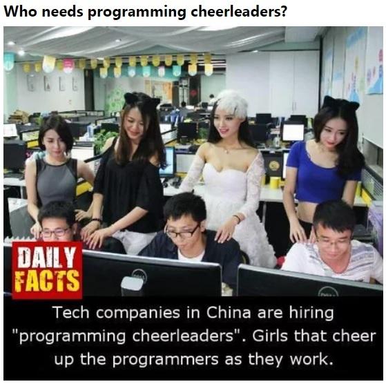 Команда поддержки для программистов? Поддержка, Программист, Перевод, 9gag, Китай