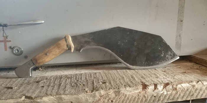 Нож для рубки свеклы. Нож, Рога, Дерево, Сталь, Рукоделие без процесса