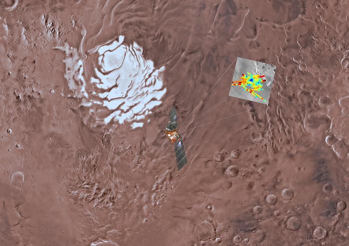 Подо льдами на Марса обнаружено озеро Марс, Наука, Космос, Жизнь на марсе, Вода на Марсе, Длиннопост