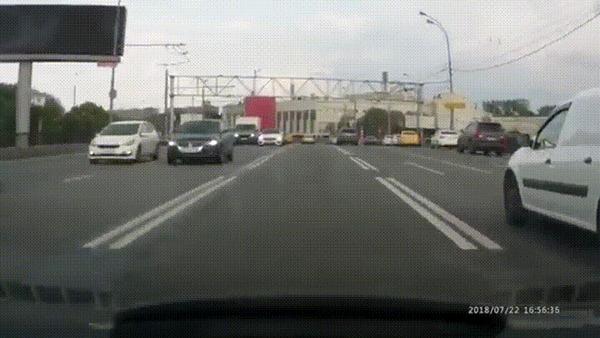 Натворил дел #2 ДТП, Москва, Мото, Мотоциклист, Проблема, Встречка, Гифка, Видео