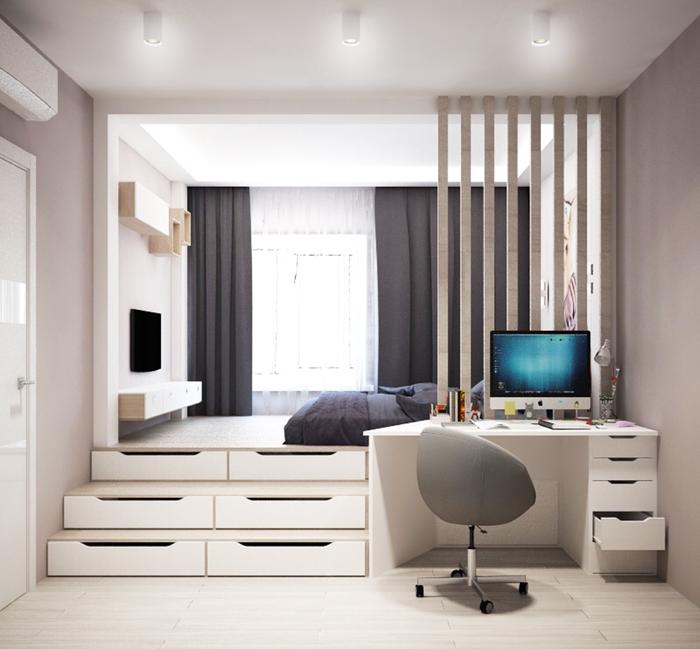Практическая сторона подиумов в квартирах Подиум, Кровать, Мебель, Длиннопост
