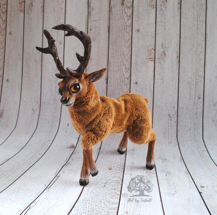 Готовь сани летом!) Подборка рождественских оленей Олень, Полимерная глина, Авторская игрушка, Рождество, Новый Год, Подарок, Длиннопост