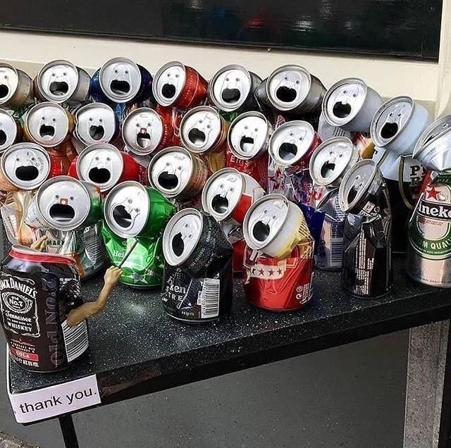 Алюминиевый хор. Оркестр, Алюминиевая банка, Арт, Картинки