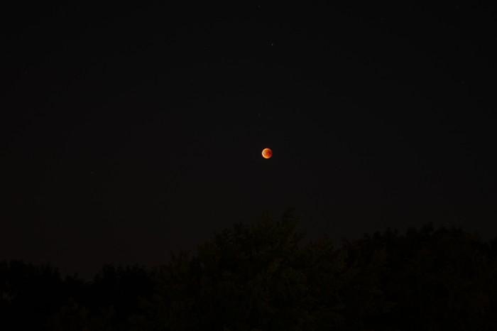 Кровавая луна 27.07 Фотография, Луна, Вселенная, Марс, Затмение, Лунное затмение, Canon