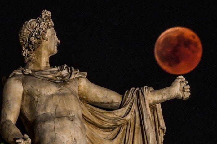 Июльское лунное затмение вокруг света Луна, Затмение, Лунное затмение, Фотография, Космос, Астрономия, Длиннопост, 2018