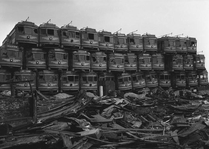 Кладбище трамваев, убитых General Motors, o. Терминал, Калифорния, 1956 год. Трамвай, General Motors, Кладбище, Конкуренция, Монополисты, История, США, Копипаста