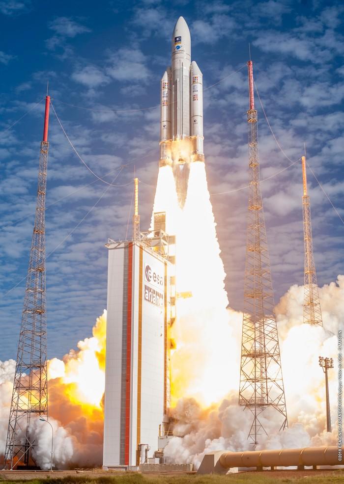 Эпичный момент взлета Ariane 5 Ракета-Носитель, Запуск ракеты, Ariane 5, ESA