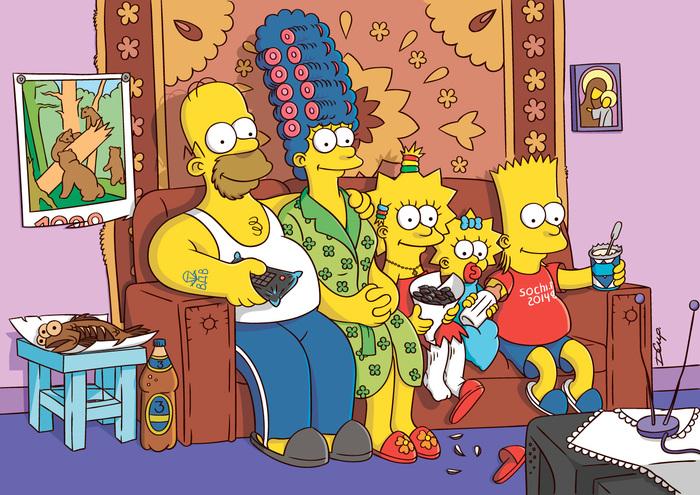 «Русские Симпсоны» — всем желающим! Симпсоны, Иллюстрации, Арт, Подарок, Россия