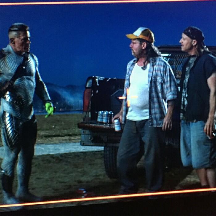 Грим Мэтта Деймона для его камео в «Дэдпуле 2». Мэтт дэймон, Грим, Deadpool 2, Фильмы, Камео