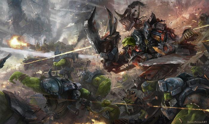 Waaaaagh Warhammer 40k, Wh art, Орки