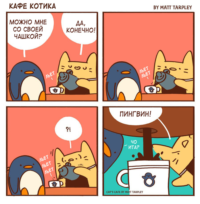 Cat's cafe Cats cafe, Комиксы, Кофе, Животные, Длиннопост, Кот