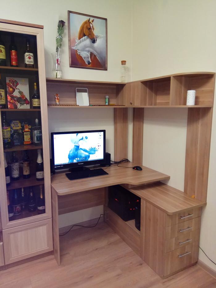Компьютерный стол своими руками Стол, Своими руками, Мебель свими руками, Длиннопост