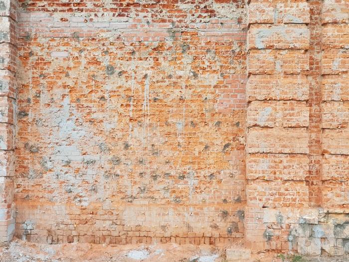 Стены Стена, Фотография, Зелень, Кирпичи
