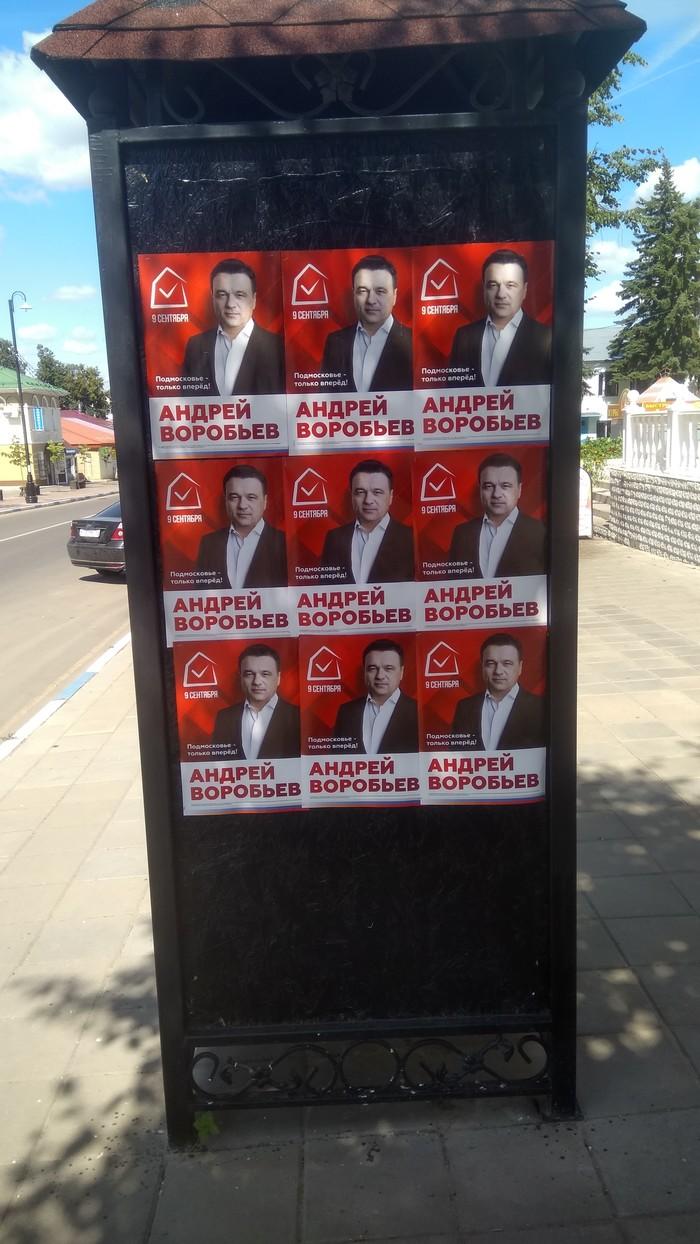 Когда мне говорят, что на выборах есть выбор - я показываю им эту фотографию Выборы, Политика, Воробьев, Кашира