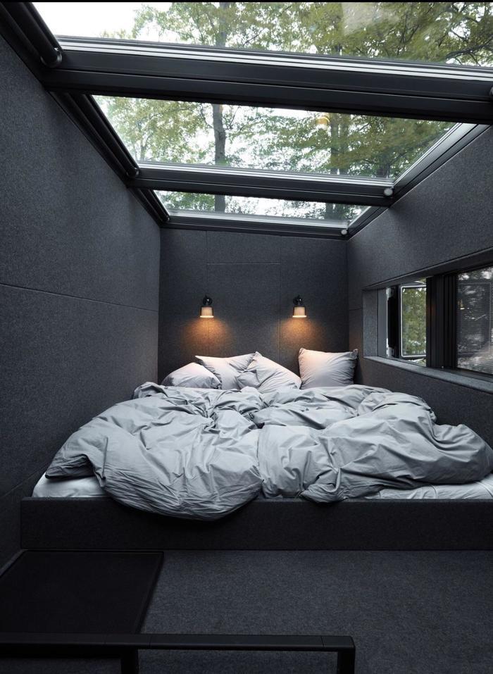 Отличная спальня для разглядывания звездного неба