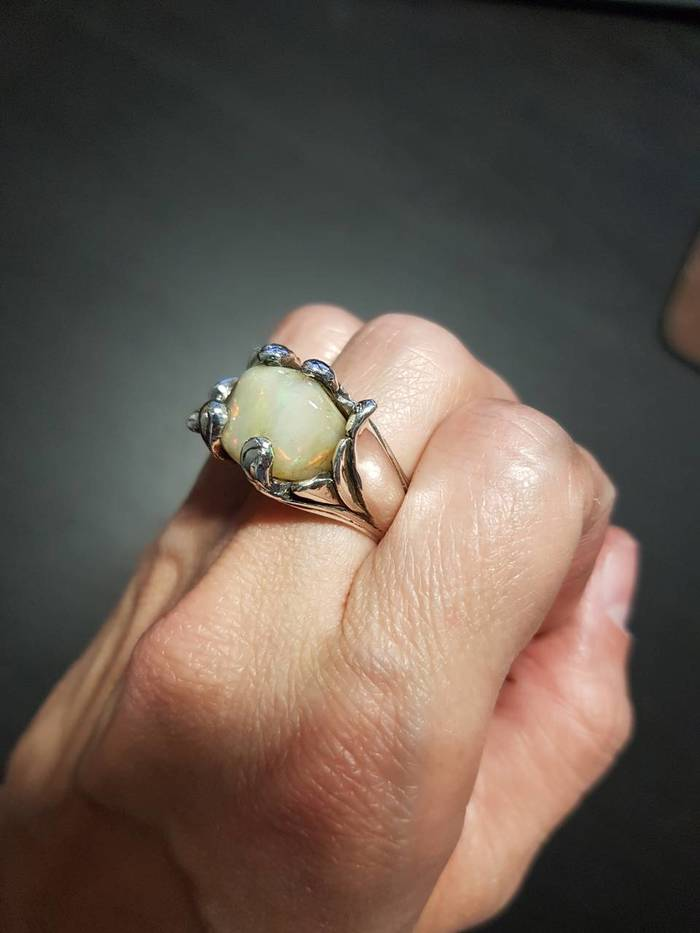 Серебряное кольцо Ювелирные изделия, Серебро, Ручная работа, Длиннопост, Своими руками