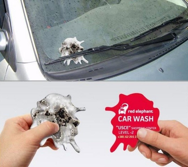 Креативная реклама автомойки