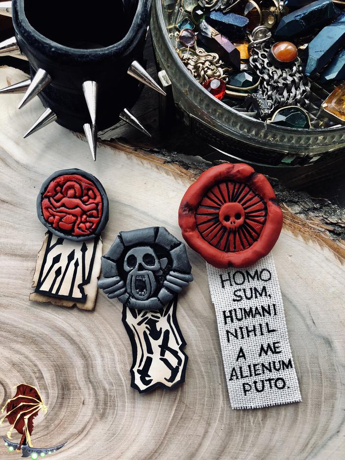 Печати из Darkest Dungeon Lorebox, Лорбокс, Darkest dungeon, Темнейшее подземелье, Печать, Рукоделие, Крафт, Длиннопост, Полимерная глина