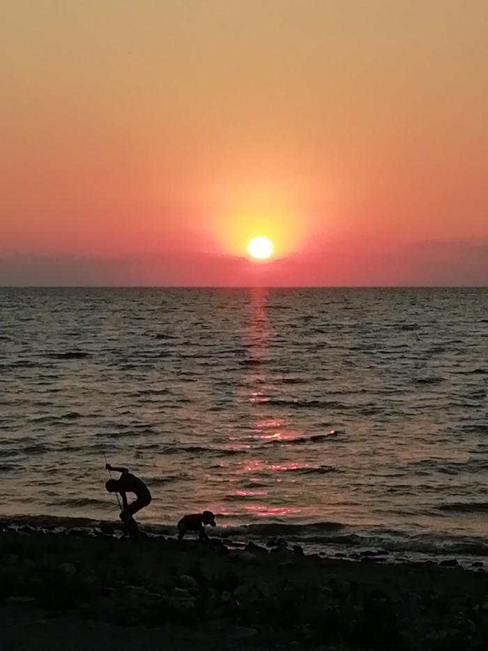 Ейск, закат Ейск, Фотография, Море, Длиннопост
