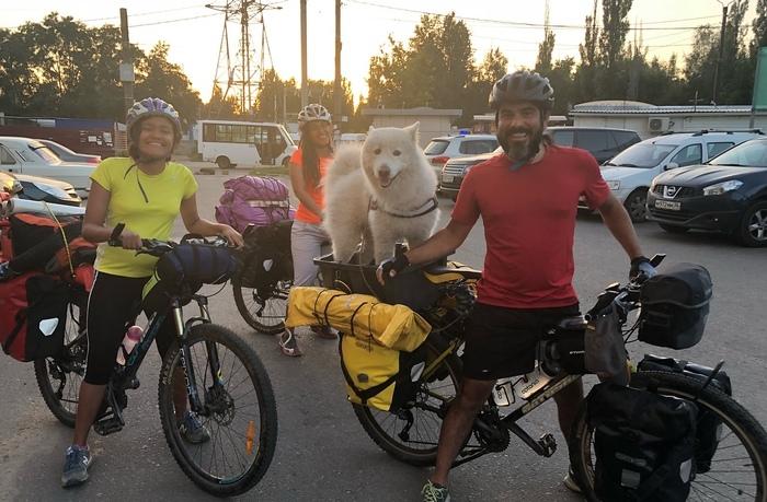 Как у нас три дня жили колумбийцы, а кокса мы так и не понюхали Велосипед, Приключения, Собака, Путешествия, Семья, Гости, Животные, Колумбия, Длиннопост