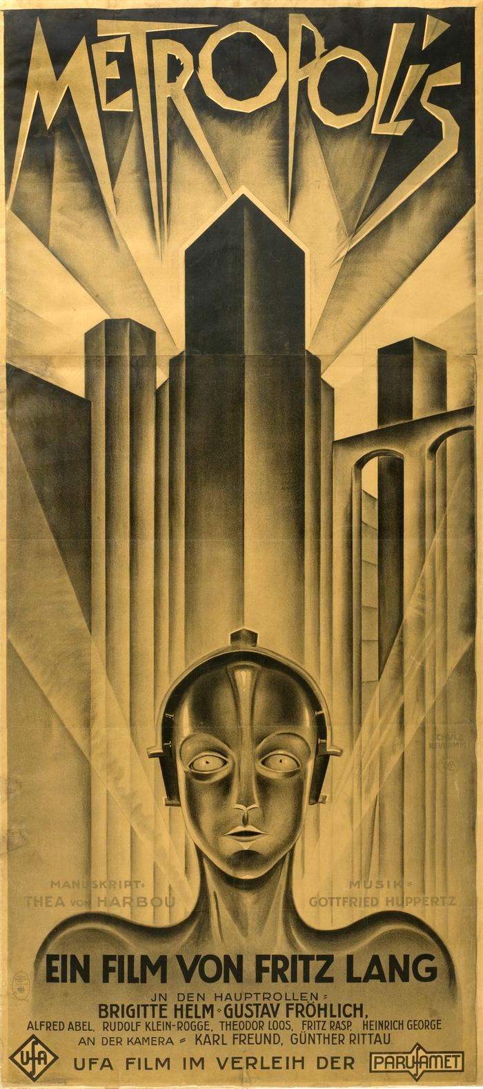 «Метрополис». Киноплакат. Германия, 1926 Германия, Немецкие плакаты, Немецкое кино, Экспрессионизм, Киноплакат, Длиннопост
