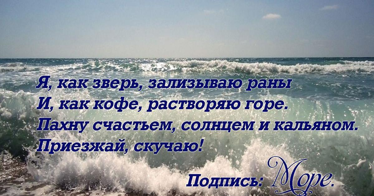Поездка к морю стихи классиков цитаты