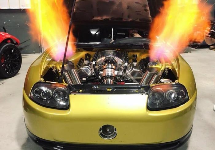 Послушайте, как звучит 2500-сильная Toyota Supra Toyota Supra, Wasabi Supra, Спорткар, Видео
