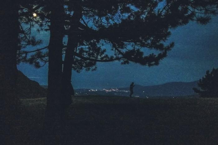 Ночь в горах. Моё, Фотография, Ночь, Горы, Море