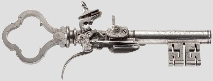 Ключ-пистоль 17-19-го века. Огнестрельное оружие, 17-й век, 19 век, Ключи, Комбинированное оружие, Фотография, Длиннопост