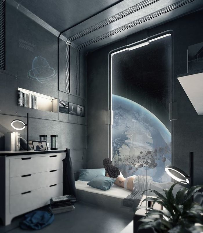 Sci-fi комнат пост Sci-Fi, Космос, Арт, Космический корабль, Фантастика, Дизайн интерьера, Длиннопост