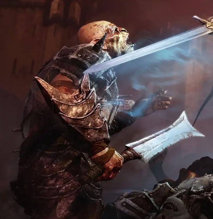 Орочий меч Орки, Меч, Модель, Пятничный тег моё, Middle-Earth: Shadow of Mordor, Властелин колец, Средиземье, Длиннопост