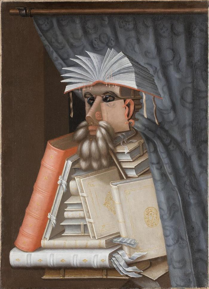 """Джузеппе Арчимбольдо """"Библиотекарь"""", 1566 год."""