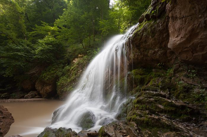 Водопад Фотография, Длинная выдержка, Водопад, Canon 5DM2