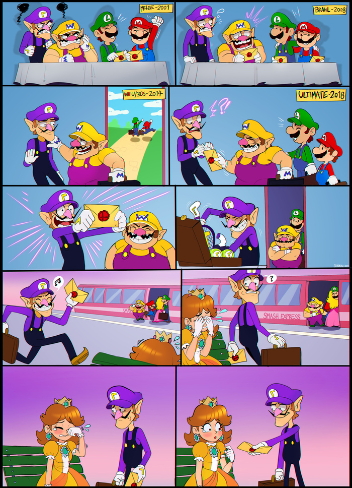 SMASH OR PASS Shadman, Комиксы, Super Smash Bros, Princess Daisy, Waluigi, Wario, Игры, Видео