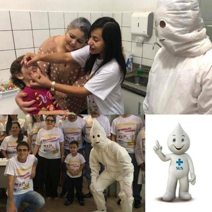 Бразильский талисман здравоохранения выглядит как ККК