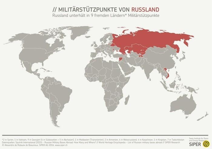 Военные базы США\России США, Россия, Военные базы, Карта мира