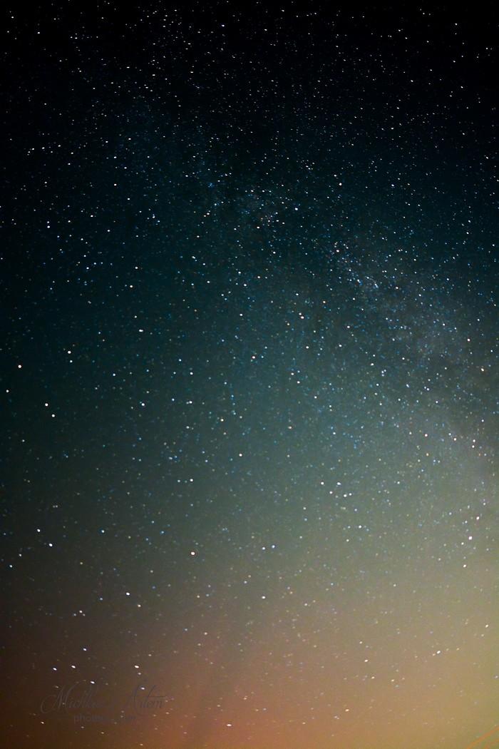 Ночь на даче. Пермский край.Снимал с грядки. Фотография, Звездное небо, Дача, Пермский край, Длиннопост