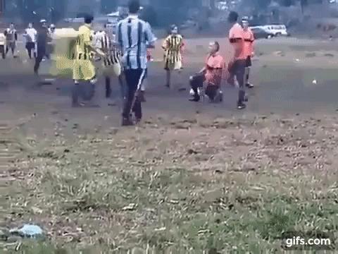 Хорошая игра Футбол, Драка, Красота, Гифка, Видео