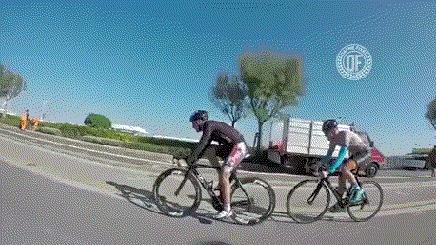 На велогонке