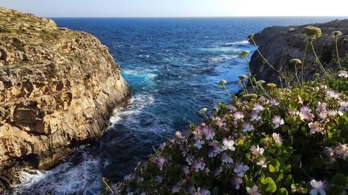 Мальта. Остров Гозо Мальта, Море, Природа, Скалы