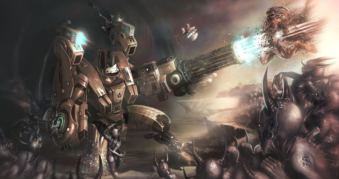 The confrontation. Warhammer 40k, Wh art, Tau, Chaos Daemons