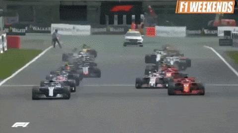 Гран-При Бельгии: в начале было круто Авто, Автоспорт, Гонки, Формула 1, Гран-При, Обзор, Гифка, Авария, Длиннопост
