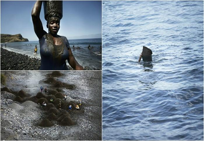 Песчаные воры в Кабо-Верде Кабо Верде, Женщина, Песок, Работа, Многодетная мать, Море, Воровство, Длиннопост