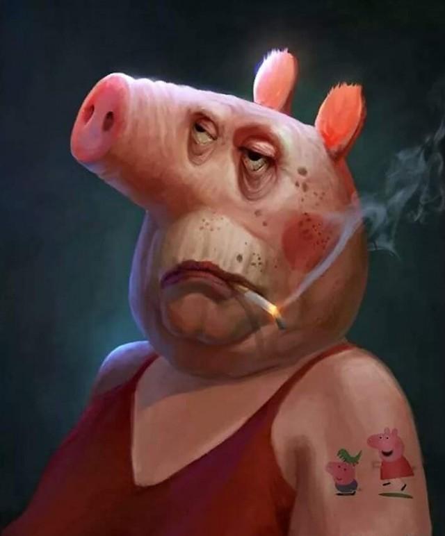 Свинка Пеппа устала от всего этого...