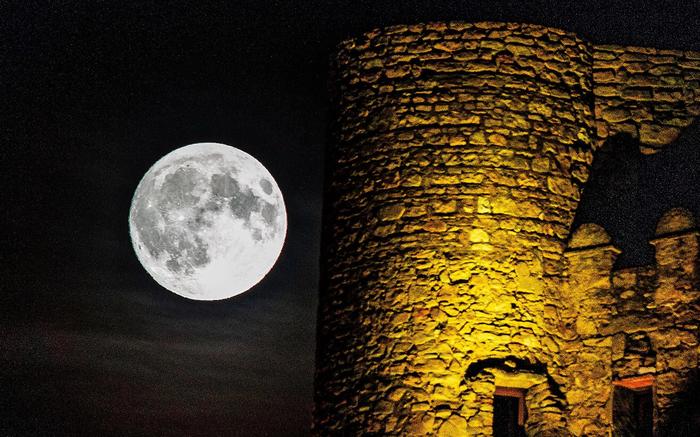 Полная Луна, август 2018 Полнолуние, Космос, Луна, Фотография, Длиннопост