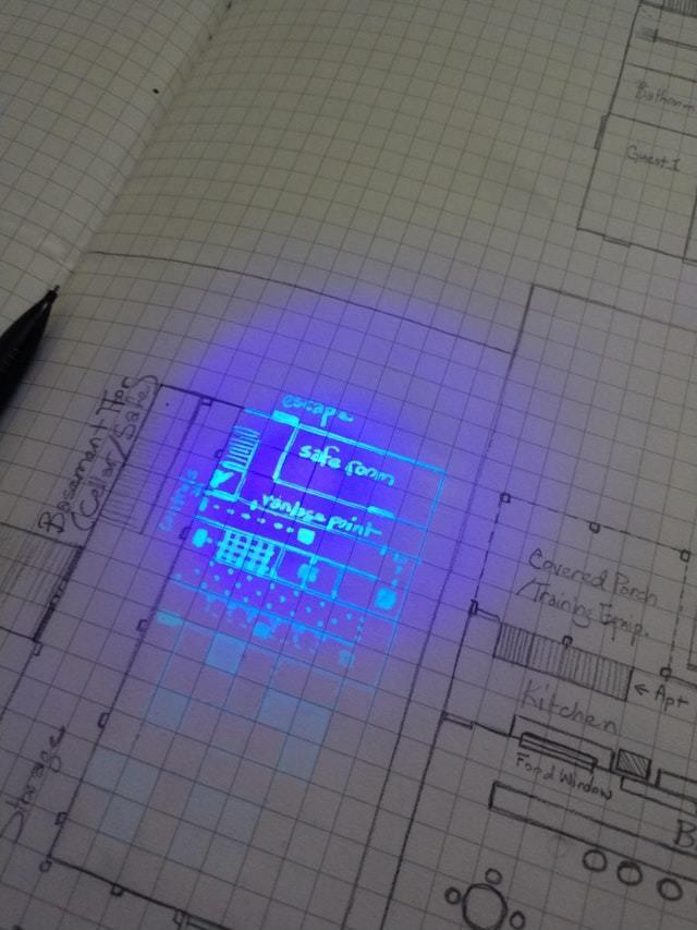 Секретный этаж под ультрафиолетом