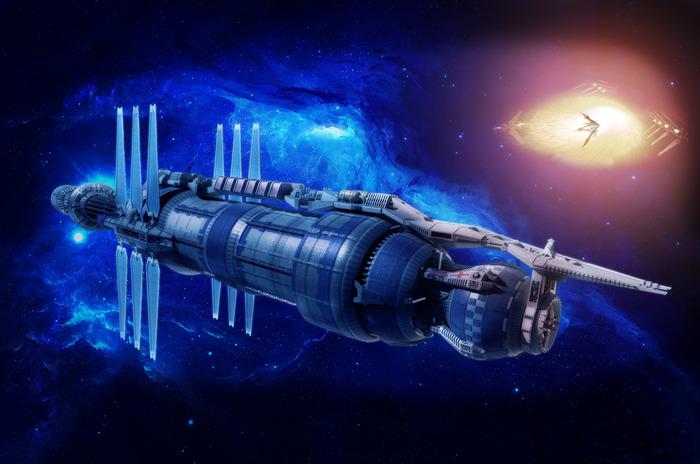 Вавилон-5. Ворлон. Станция - первая попытка. Вавилон-5, Photoshop, Коллаж, Начинающий, Фантастика