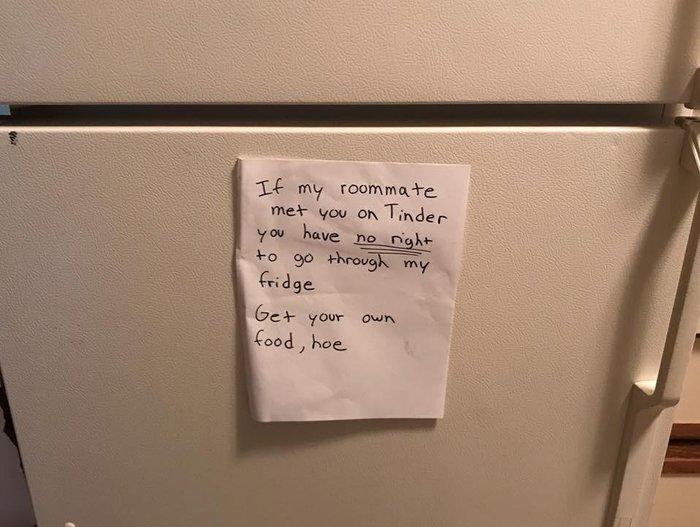 Не шлюхолодильник Записка, Tinder, Холодильник