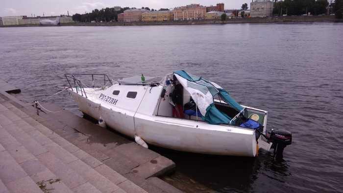 На Яхте (без мачты) Кронштадт - Балтиец - Питер - Нева - Усть Ижора и обратно за 7 дней не спеша. Яхтинг, Санкт-Петербург, Нева, Длиннопост, Видео
